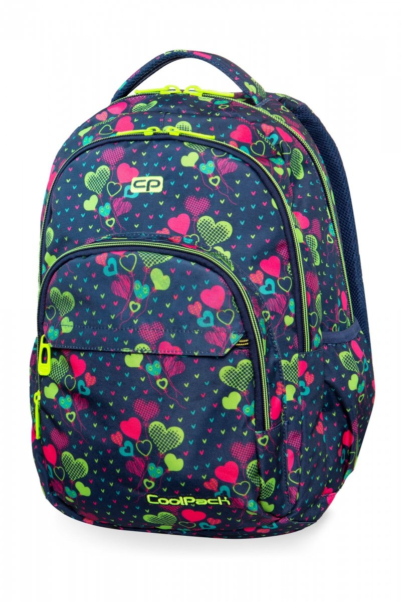 81fbea425aa53 CoolPack B03010 Basic Plus Lime Hearts 27L Plecak