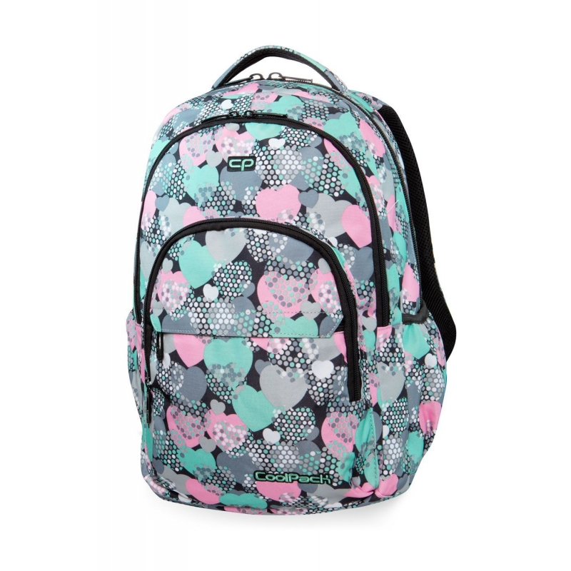 894501fe09ca6 CoolPack B03018 Basic Plus Minty Hearts 27L Plecak
